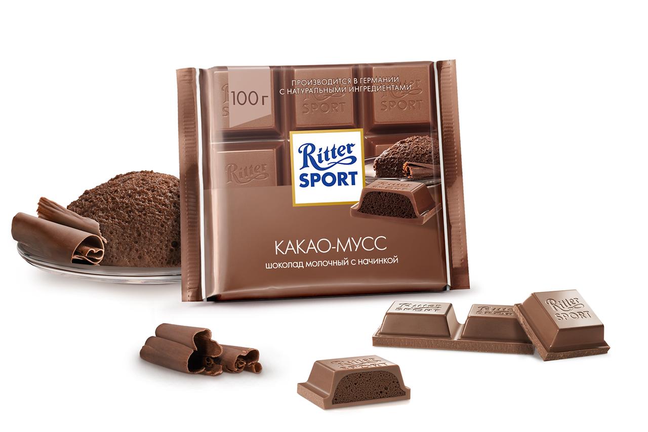 Ritter Sport Kakao-Mousse (Какао-Мусс), 100 грамм