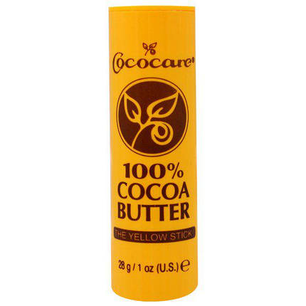 Cococare, 100%-е масло какао, Желтый карандаш, 1 унция (28 г), фото 2