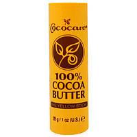Cococare, 100%-е масло какао, Желтый карандаш, 1 унция (28 г)