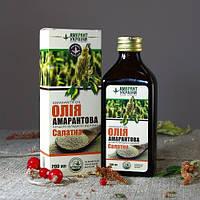 Масло амаранта салатное 200 мл, 35% чистое амарантовое масло и 65% оливковое масло extra virgin