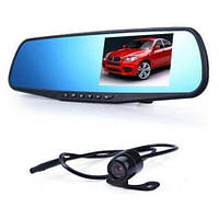 Автомобильная камера DVR 138W 4 зеркало заднего вида с видеорегистратором (с двумя камерами)
