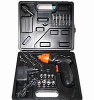 Аккумуляторный шуруповерт Cordless Screwdriver на 45 предметов + КЕЙС