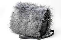 Женская сумка из эко-кожи с мехом