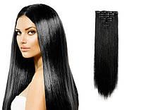 Волосы на заколках цвет №1 черный