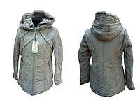 Жіноча зимова куртка батал р.5052 сіра арт.1237 ТМКИТАЙ