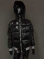 Черная курточка с мехом