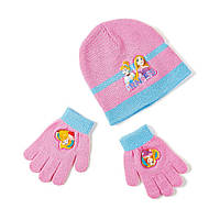 Детский вязаный комплект 2в1 Princess (Принцессы) шапка + перчатки из акрила (размеры 48 / 51) ТМ ARDITEX WD9815 розовый, фото 1