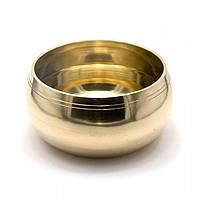 Чаша поющая бронзовая (без резонатора)(d-17,5 h-9,5 см)