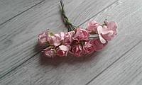 Роза папір  1,5см,  розовий колір