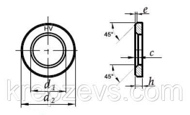 Схема шайбы ГОСТ 22355-77