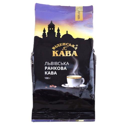 Кофе Віденська кава Львівська ранкова молотый 100 г