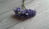 Роза папір  1,5см,  бузковий  колір