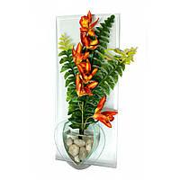 Цветок в стекле (GLW-356)(36х16х5 см)