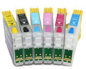 Комплект перезаправляемых картриджей для Epson R200/340/RX500/640