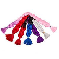 Канекалон для плетения косичек, цвет Черно-красный градиент