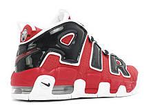 Мужские кроссовки Nike Air More Uptempo 96 Red Black топ реплика, фото 3