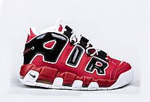 Мужские кроссовки Nike Air More Uptempo 96 Red Black топ реплика, фото 2