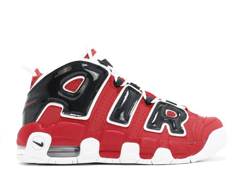 Мужские кроссовки Nike Air More Uptempo 96 Red Black топ реплика