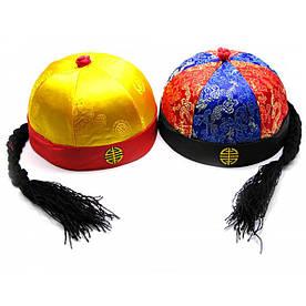 Китайская шапка с косой (d-18,h-10 см)