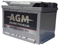 Аккумулятор AGM 60 Ah (0) 600A Silver Premium