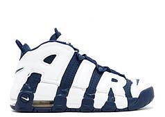 Мужские кроссовки Nike Air More Uptempo Olympic Navy Blue топ реплика