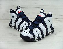 Мужские кроссовки Nike Air More Uptempo Olympic Navy Blue топ реплика, фото 2