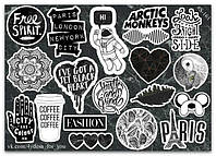 Stickers Pack Black&White #161, фото 1
