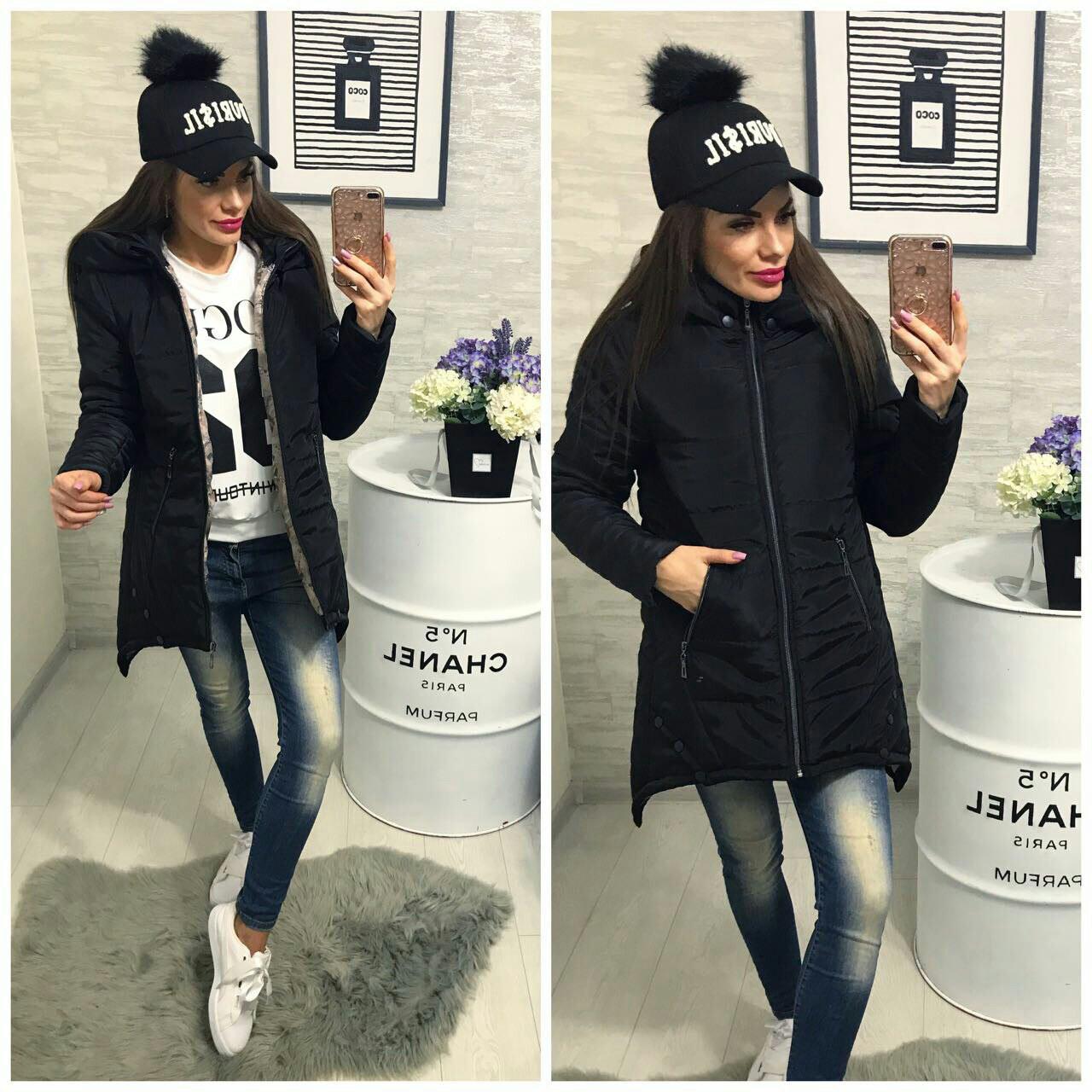 Куртка Зима, модель 305, цвет - черный