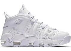 Женские кроссовки Nike Air More Uptempo белые топ реплика