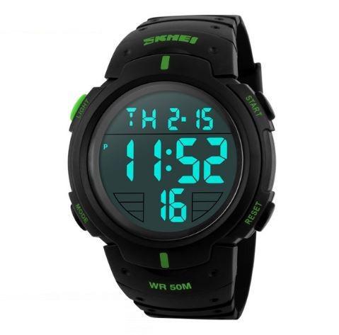 Часы водонепроницаемые спортивные Skmei Army Green BOX 1068GB