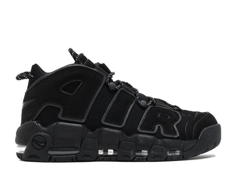 Мужские кроссовки Nike Air More Uptempo черные топ реплика