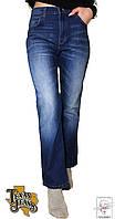 Джинсы Texas Jeans прямые р. 42-44 S с завышенной талией синие весенние демисезонные