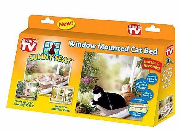 Оконная кровать для кота Sunny Seat Window-Mounted Cat Bed