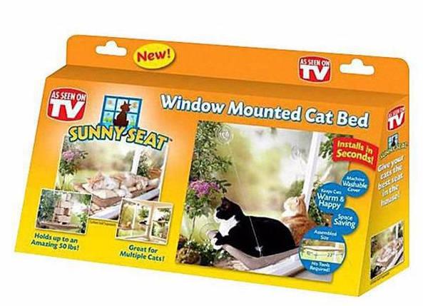 Оконная кровать для кота Sunny Seat Window-Mounted Cat Bed, фото 2