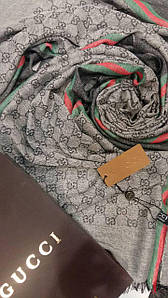 Шарфик Gucci светло-серый