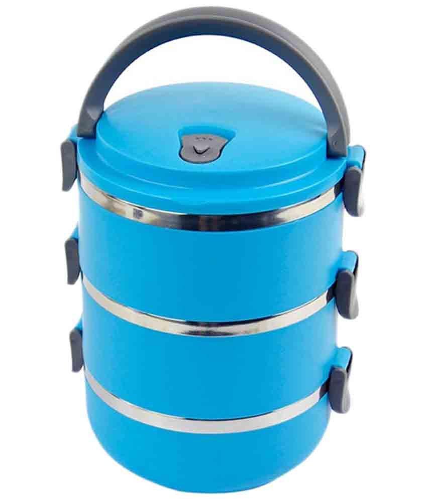 Переносная емкость для хранения продуктов 3 Layer Stainless Steel Lunch Box (3 шт)
