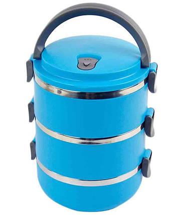 Переносная емкость для хранения продуктов 3 Layer Stainless Steel Lunch Box (3 шт), фото 2