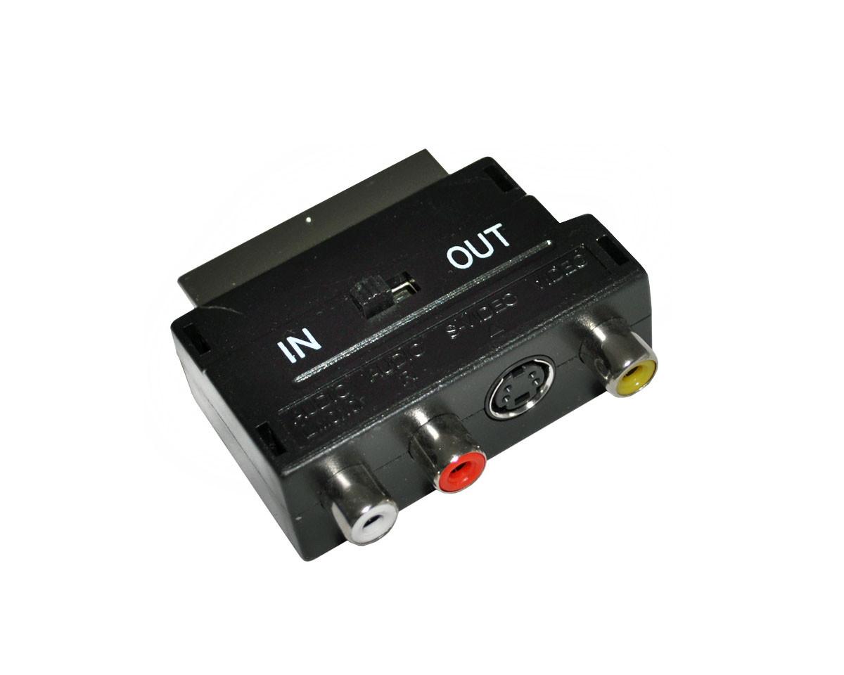 Перехідник SH 3006, адаптер SCART - 3 RCA