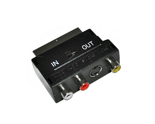 Перехідник SH 3006, адаптер SCART - 3 RCA, фото 2