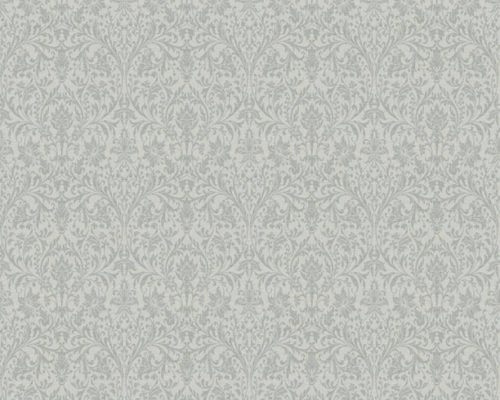 Обои монохромные, с крупным гобеленовым рисунком 360874.