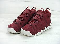 Мужские кроссовки Nike Air More Uptempo Bordo топ реплика, фото 2