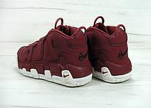 Мужские кроссовки Nike Air More Uptempo Bordo топ реплика, фото 3