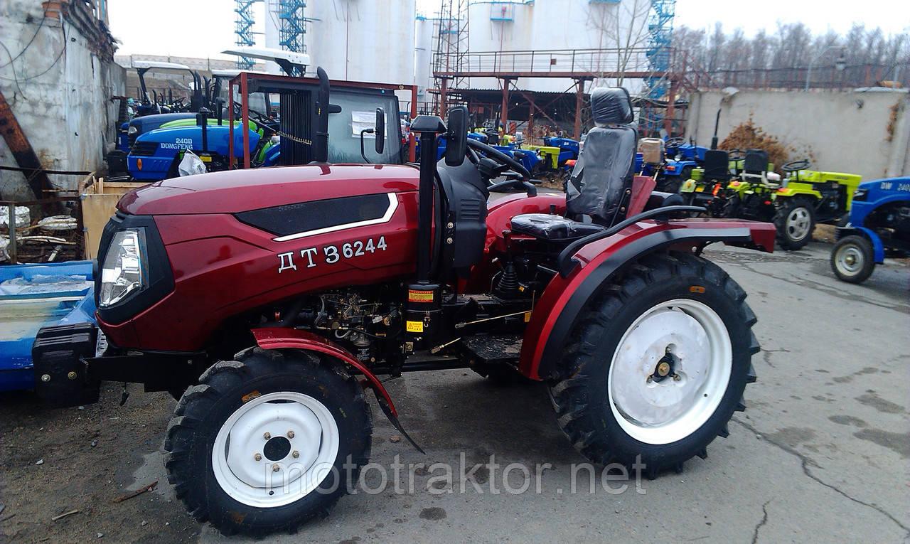 Трактор ДТЗ 6244HX (4x4, 3 цил., 24л.с., гур, компрессор, эл. панель)