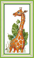 Набор для вышивания крестиком с печатью на ткани Жирафик