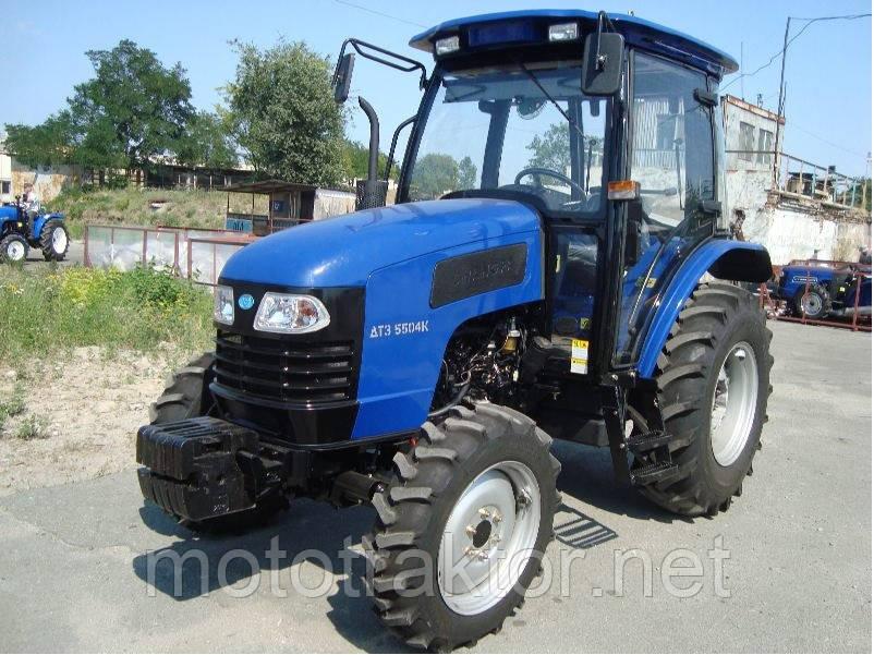 Трактор ДТЗ 5504К (50 л.с., 4х4, реверс КПП, кабина с отоплением)