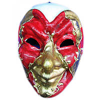 Маска карнавальная Венецианская папье-маше (24,5см)