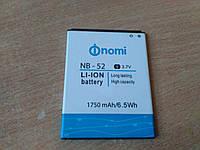 Аккумулятор Nomi i501 (NB-52) ориг. test 1700mAh