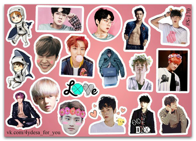 Stickers Pack EXO #170
