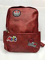Женский рюкзак из эко - кожи  INGA  цвет Красный