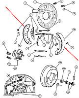 Колодки тормозные задние, барабанные Voyager R714RE REMSA